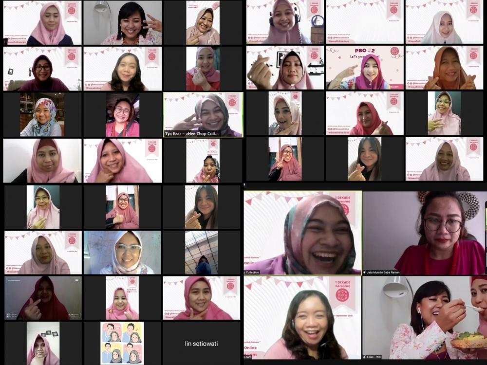 Rayakan Ulang tahun ke-10, Komunitas perempuan ini Gelar Pesta Virtual