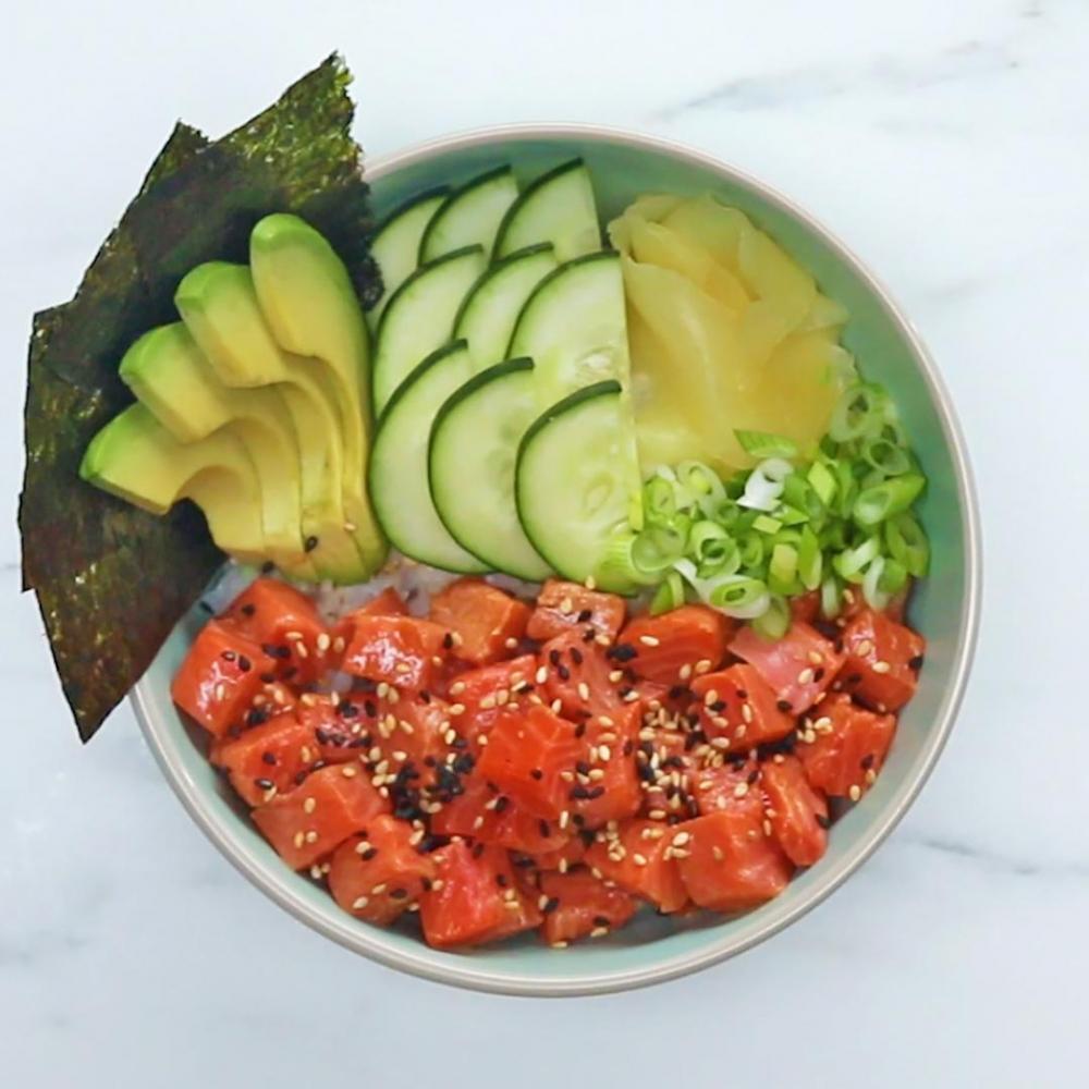 Resep Salmon Poke Bowl Untuk Ide Usaha Rumahan